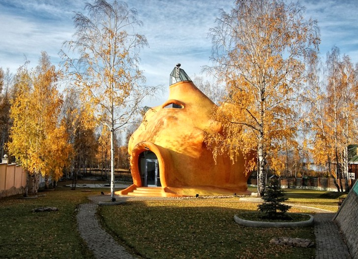 Casa inspirata de lumea subacvatica - Casa cu forma organica inspirata de lumea subacvatica