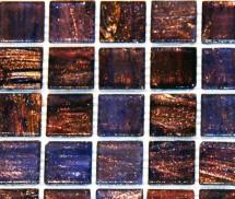 Mozaic sticla cu insertii aurii TM0079 - Mozaic sticla - Sticla colorata