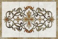Medalion Floral dreptunghiular 1 - Medalioane decorative florale