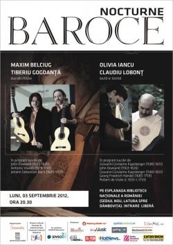 nocturna1 - Nocturne baroce: Bach, Vivaldi, Scarlatti si Handel pe malul Dambovitei