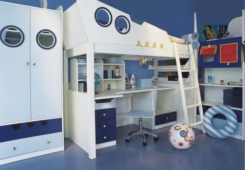 Foto: www.uniquebedroom.com, via fancyhomedesign.com - Idei de camere tematice pentru copii