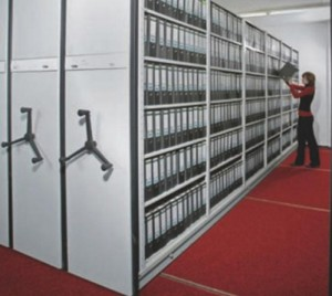 META MULTIBLOC®  Rafturi mobile cu polite  - Sisteme de arhivare