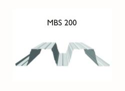 Profil MBS 200 - Tabla cutata cu profil inalt