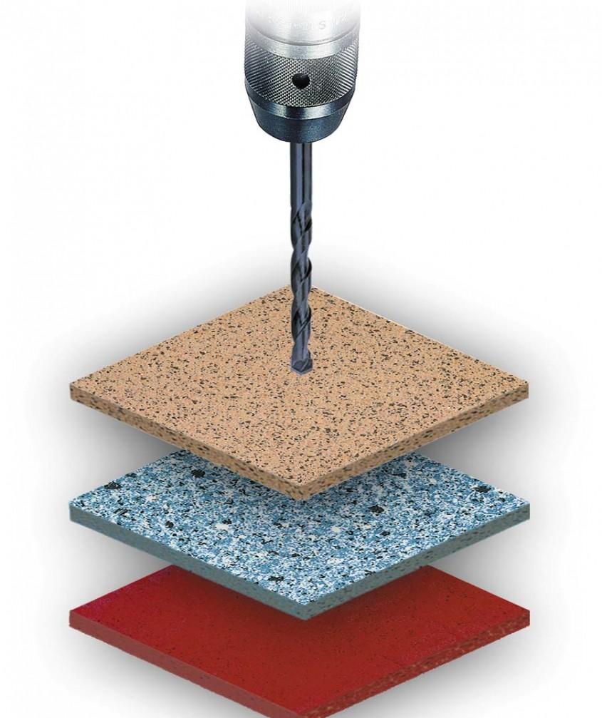 Cu burghiul potrivit se poate gauri orice material inlcusiv ceramica (foto www ceramictiledrill com) - Cu