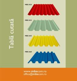 Tabla cutata MBS 20, 35, 45 si 60 - Tabla cutata cu profil mic