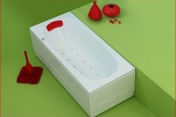 Anca - cada de baie dreapta din acril antibacterian - Cazi drepte