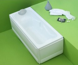 Ulise - cada de baie dreapta din acril antibacterian - Cazi drepte