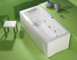 Roma II - cada de baie dreapta din acril antibacterian - Cazi drepte