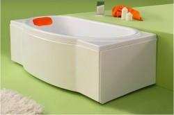 Marieta - cada de baie dreapta din acril antibacterian - Cazi drepte