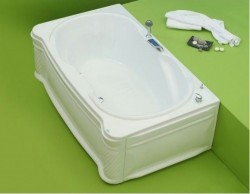Paradis - cada de baie dreapta din acril antibacterian - Cazi drepte