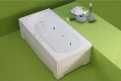 Athos - cada de baie dreapta din acril antibacterian - Cazi drepte