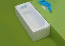 Luna - cada de baie dreapta din acril antibacterian - Cazi drepte