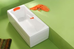 Optima - cada de baie dreapta din acril antibacterian - Cazi drepte