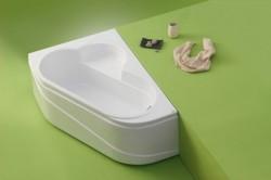 Ela - cada de baie pe colt din acril antibacterian - Cazi pe colt