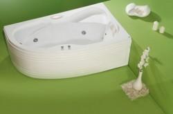Nicole - cada de baie pe colt din acril antibacterian - Cazi pe colt