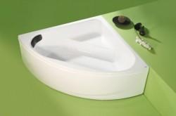 Isis - cada de baie pe colt din acril antibacterian - Cazi pe colt