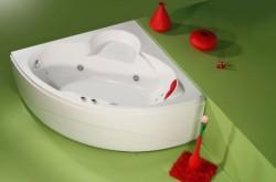 Iza - cada de baie pe colt din acril antibacterian - Cazi pe colt