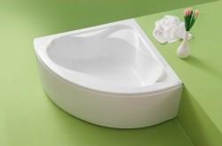 Valencia - cada de baie pe colt din acril antibacterian - Cazi pe colt