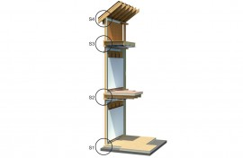 Structura casa de lemn Sgen - Structura casa de lemn