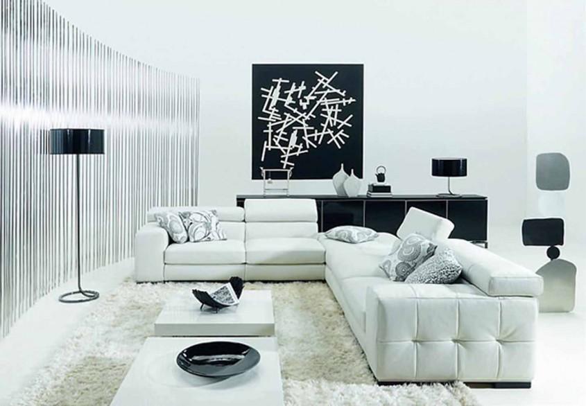 Moderna dar destul de rece combinatia alb-negru ofera o eleganta la care unii aspira (foto via