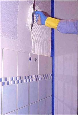 Placare pereti - Hidroizolare baie - Mapegum WPS