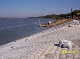 Saltele umplute cu beton  - Saltele umplute cu beton - utilizare