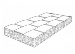 Saltea dublu tesuta din poliamida/ poliester cu distantiere pentru controlul uniformitatii grosimii - Saltele umplute cu beton