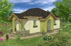 Proiect 1-002 - suprafata: 87 mp - Proiecte case parter