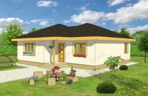 Proiect 1-004 - suprafata: 94 mp - Proiecte case parter