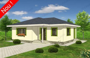 Proiect 1-007 - suprafata: 94 mp - Proiecte case parter