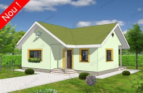 Proiect 1-008 - suprafata: 94 mp - Proiecte case parter