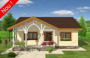 Proiect 2-019 - suprafata: 102 mp - Proiecte case parter