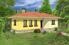 Proiect 1-001 - suprafata: 78mp - Proiecte case parter