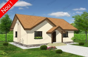 Proiect 1-009 - suprafata: 93 mp - Proiecte case parter