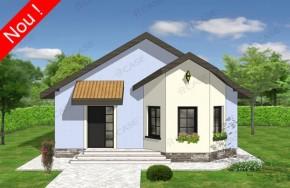 Proiect 1-010 - suprafata: 88 mp - Proiecte case parter