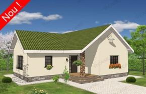 Proiect 1-011 - suprafata: 87 mp - Proiecte case parter
