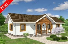 Proiect 1-013 - suprafata: 101 mp - Proiecte case parter