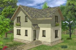 Proiect 1-003 - suprafata: 100 mp - Proiect casa cu mansarda