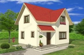 Proiect 1-006 - suprafata: 94 mp - Proiect casa cu mansarda