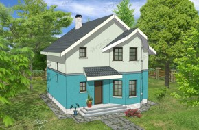 Proiect 2-001 - suprafata: 126 mp  - Proiect casa cu mansarda