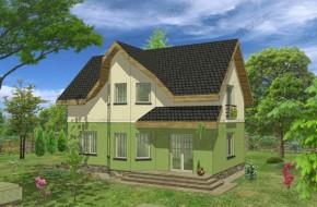 Proiect 2-002 - suprafata: 126 mp  - Proiect casa cu mansarda