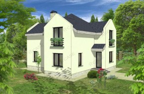 Proiect 2-003 - suprafata: 142 mp  - Proiect casa cu mansarda