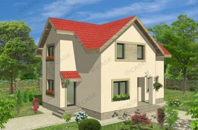 Proiect 2-009 - suprafata: 126 mp - Proiect casa cu mansarda