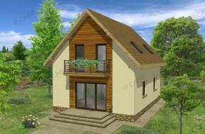 Proiect 2-011 - suprafata: 124 mp - Proiect casa cu mansarda