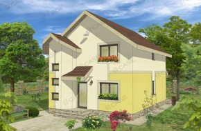 Proiect 2-013 - suprafata: 144 mp - Proiect casa cu mansarda