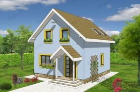 Proiect 2-014 - suprafata: 104 mp - Proiect casa cu mansarda