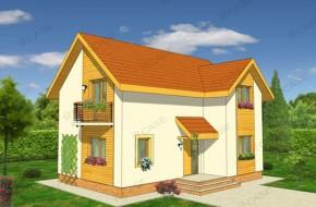 Proiect 2-015 - suprafata: 124 mp - Proiect casa cu mansarda