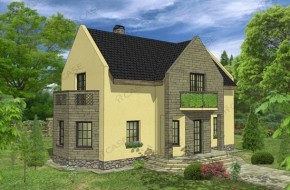 Proiect 3-001 - suprafata: 165 mp - Proiect casa cu mansarda