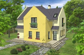 Proiect 3-002 - suprafata: 162 mp - Proiect casa cu mansarda
