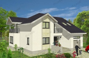 Proiect 3-010 - suprafata: 247 mp - Proiect casa cu mansarda